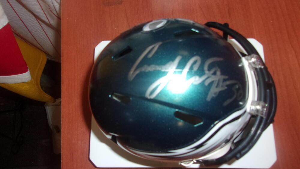 Corey Clement  Philadelphia Eagles  Signed Superbowl LII Mini Helmet COA