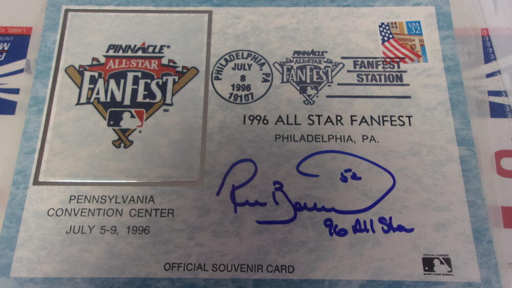 Ricky Bottalico Philadelphia Phillies Signed 1996 Official All Star Fanfest Canchet COA