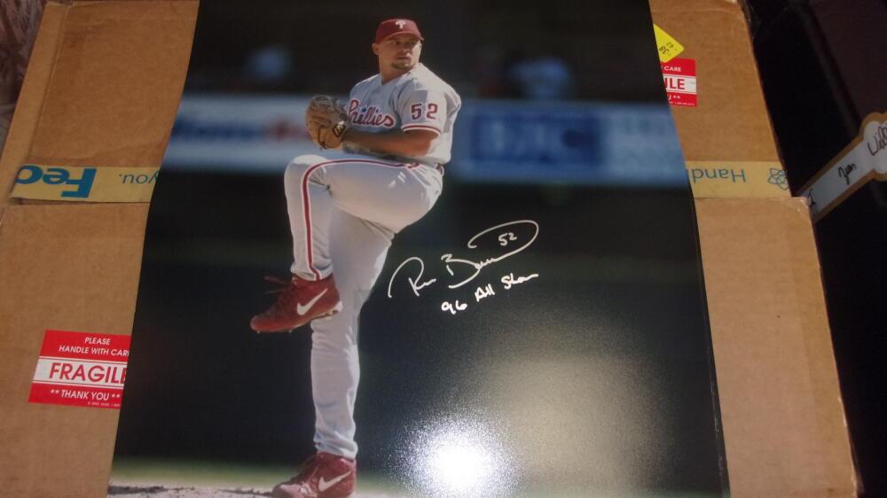 Ricky Bottalico Philadelphia Phillies Signed 16x20  COA Inscription