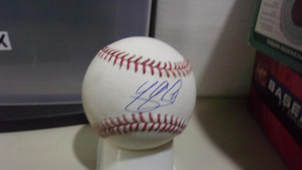 Yan Gomes Washington Nationals signed MLB Baseball COA