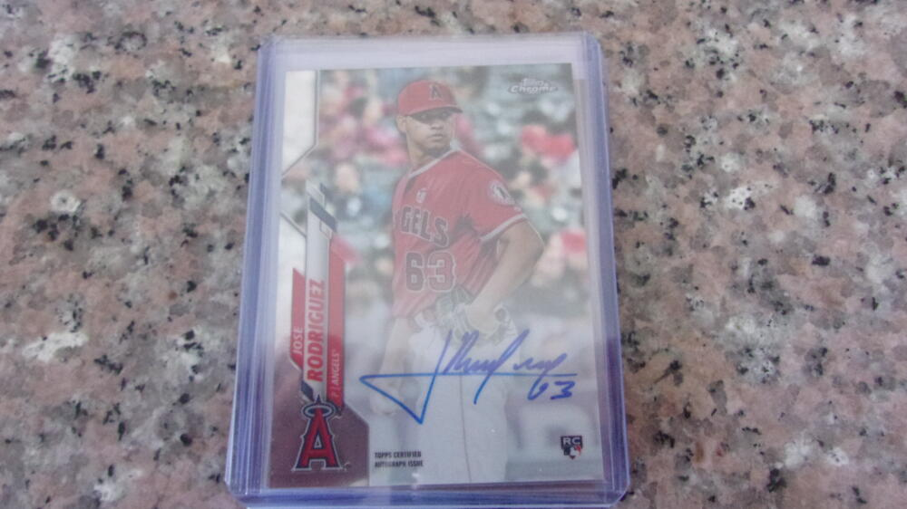 Jose Rodriguez Los Angeles Angels Auto 2020 Topps Chrome Card Mint