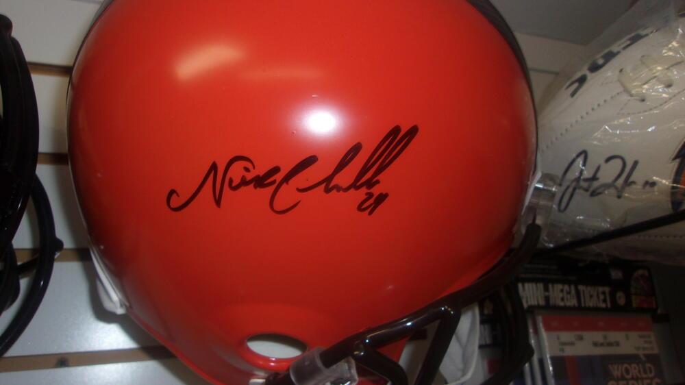 Nick Chubb Cleveland Browns Signed Full Size Replica Helmet JSA