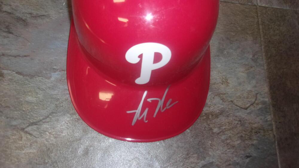 Mickey Moniak Philadelphia Phillies Plastic Batting Helmet COA