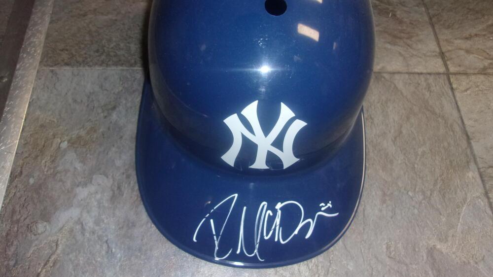 Ryan McBroom New York Yankees signed Plastic Batting Helmet COA