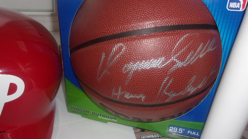 Dominque Wilkins Atlanta Hawks  Signed FS NBA Replica Basketball COA Inscription