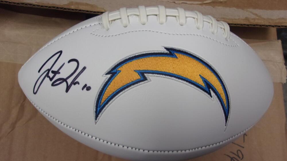 Justin Herbert Los Angeles Chargers Signed Logo  Football FANATICS