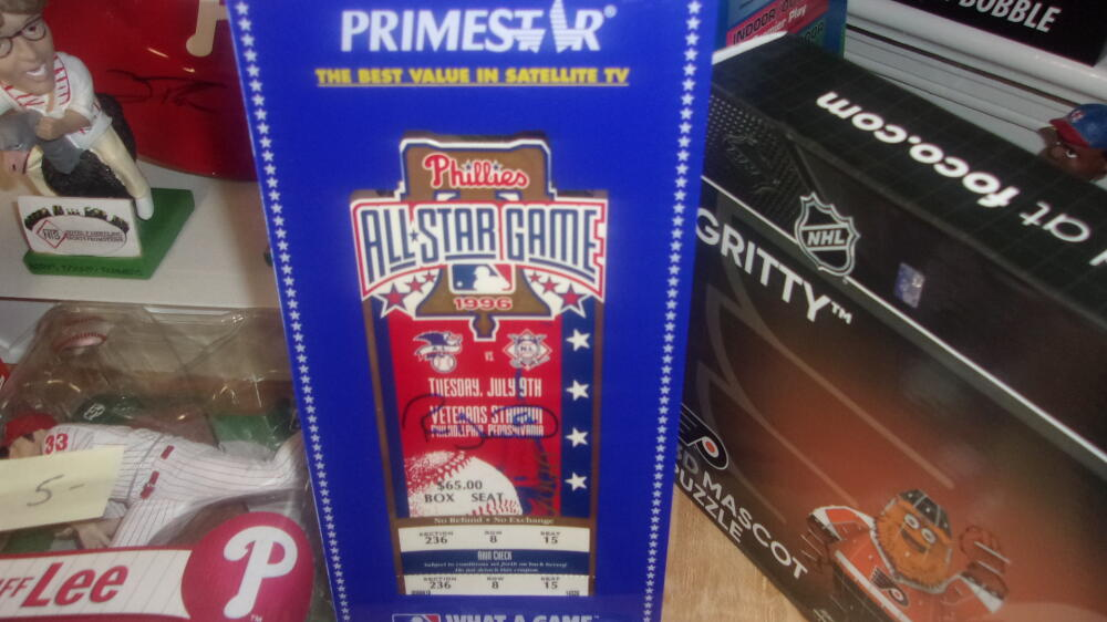 Ricky Bottalico Philadephia Phillies Signed 1996 Official All Star Ticket/Display COA