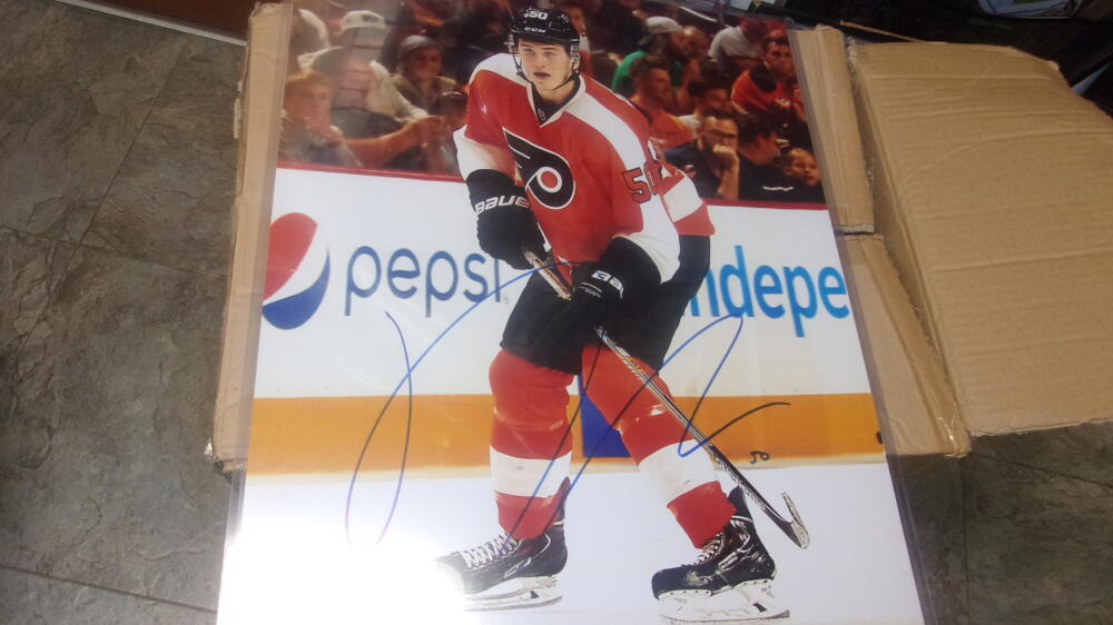 Sam Morin Philadelphia Flyers Signed 16x20 Photo COA
