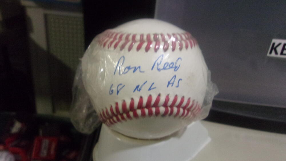 Ron Reed Braves/ Phillies/Cardinals/White Sox Signed  OLB Baseball COA Inscription