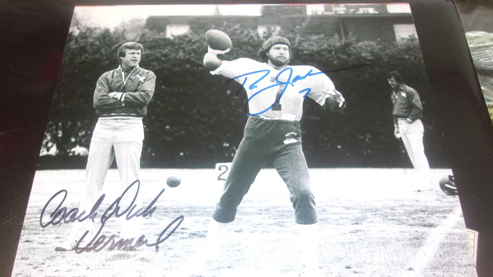 Ron Jaworski/Dick Vermeil Philadelphia Eagles Signed 8x10 Photo COA
