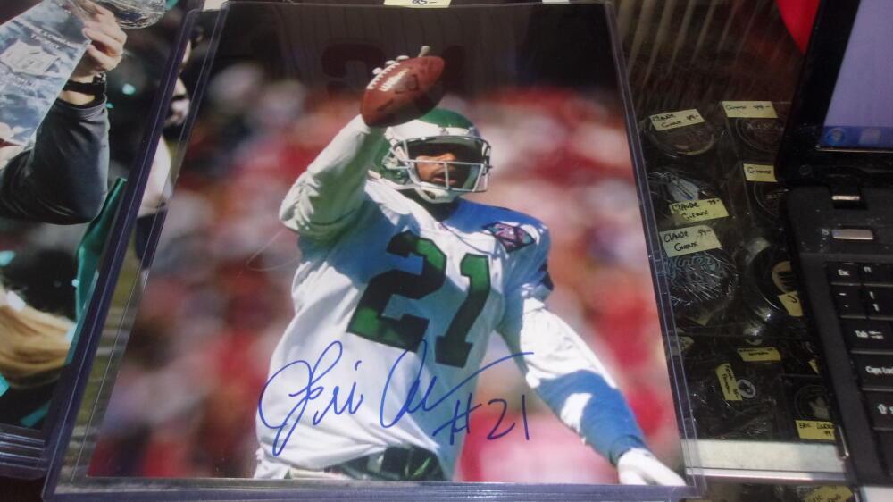 Eric Allen Philadelphia Eagles Signed 11x14   Photo COA
