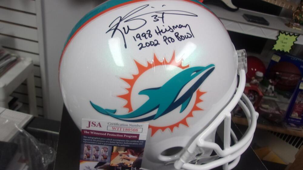 Ricky Williams Miami Dolphins Signed Full Size Replica Helmet JSA 2 inscriptions