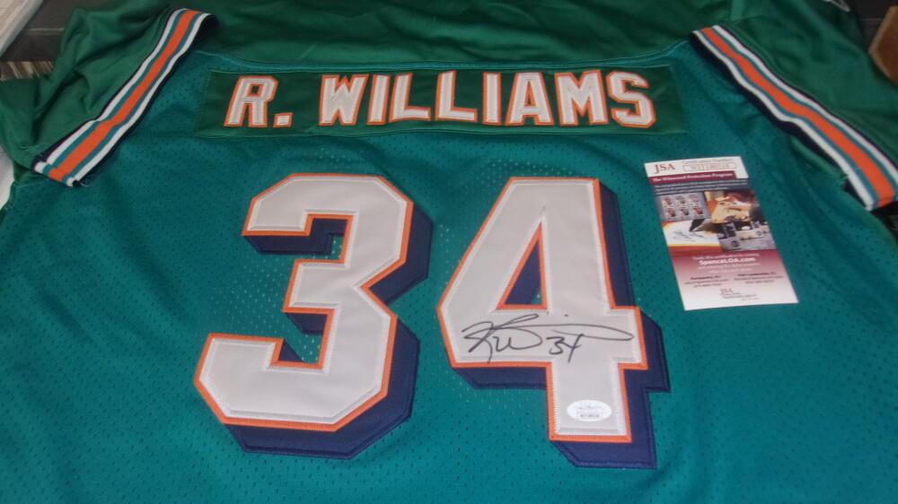 Ricky Williams Miami Dolphins  signed replica Jersey JSA Error
