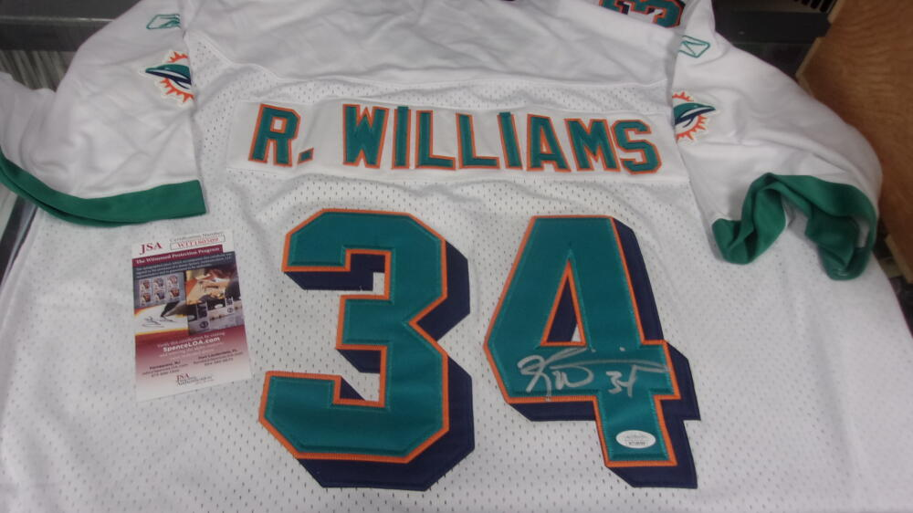 Ricky Williams Miami Dolphins  signed replica Jersey JSA