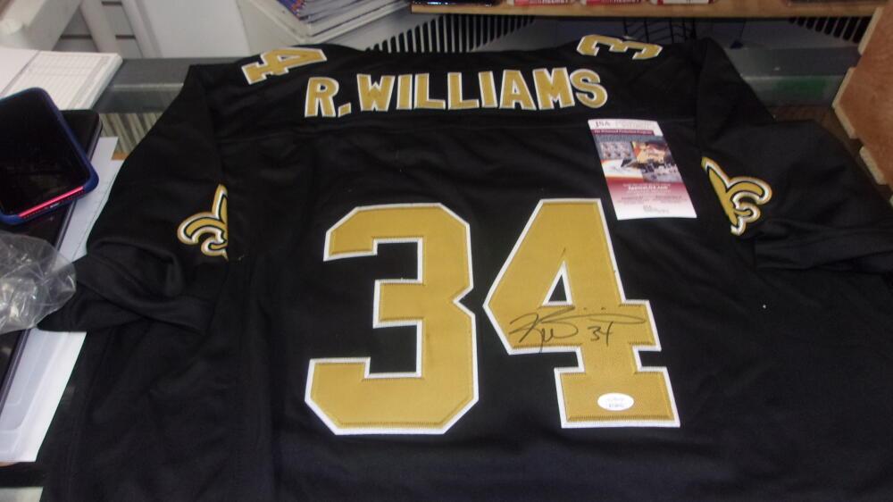 Ricky Williams New Orleans Saints  signed replica Jersey JSA