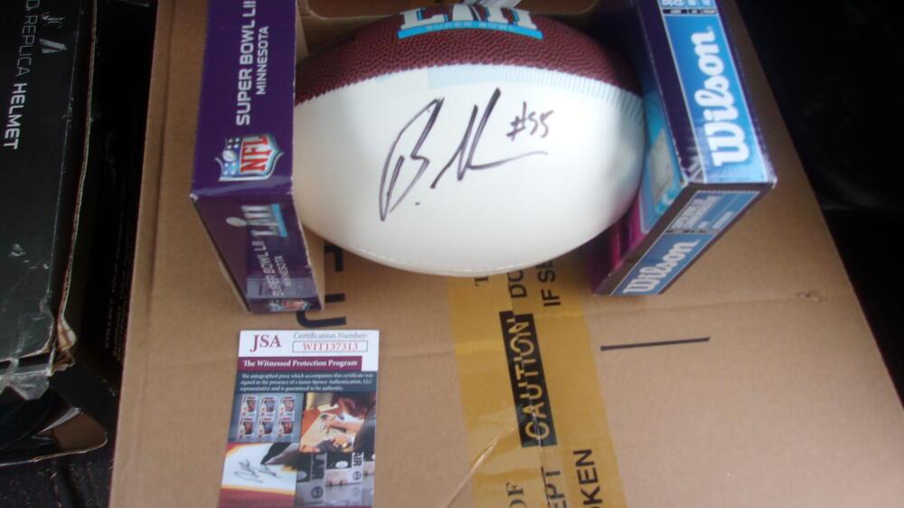 Brandon Graham Philadelphia Eagles Signed Mini Superbowl Football JSA