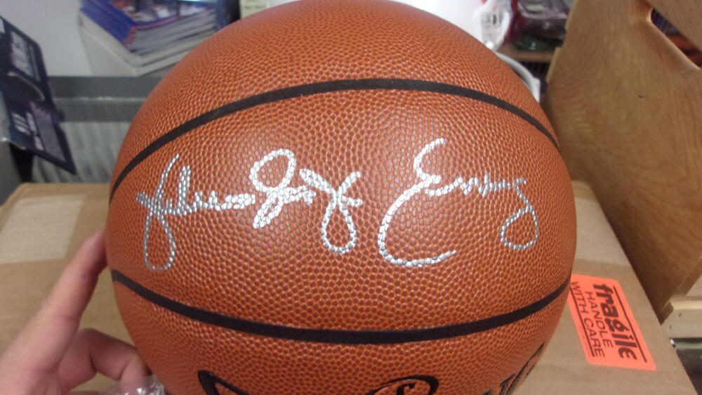 Julius Erving Dr J Philadelphia 76ers  Signed FS NBA Replica Basketball JSA