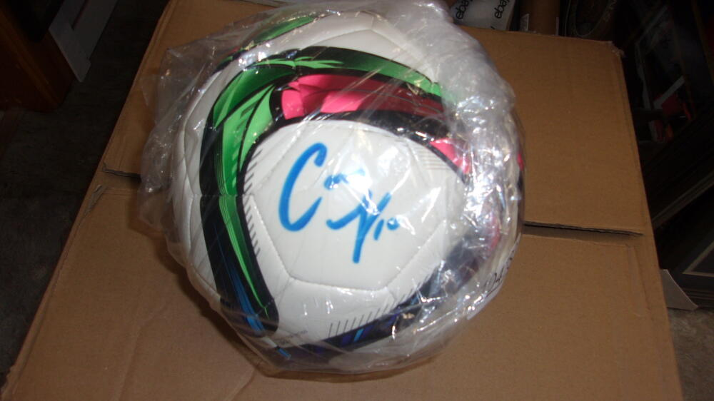 Carli Lloyd Soccer Signed Adidas ball Beckett COA