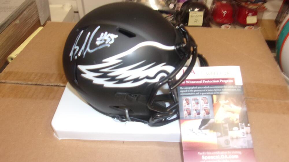 Brandon Graham Philadelphia Eagles  Signed Eclipse  Mini Helmet JSA