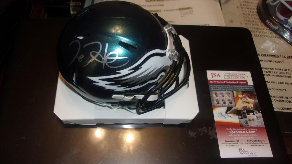 Jalen Hurts Philadelphia Eagles  Signed Speed Mini Helmet JSA