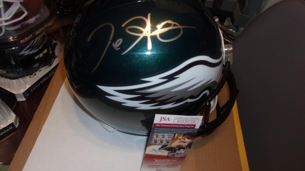 Jalen Hurts Philadelphia Eagles Signed Full Size Replica Helmet JSA