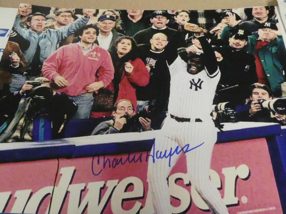 Charlie Hayes New York Yankees Signed 8x10 Photo COA  96 WS