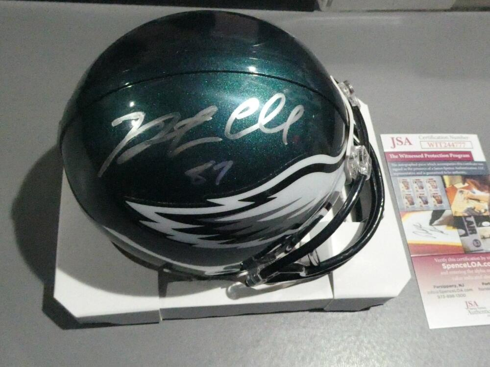 Brent Celek Philadelphia Eagles  Signed Mini Helmet JSA