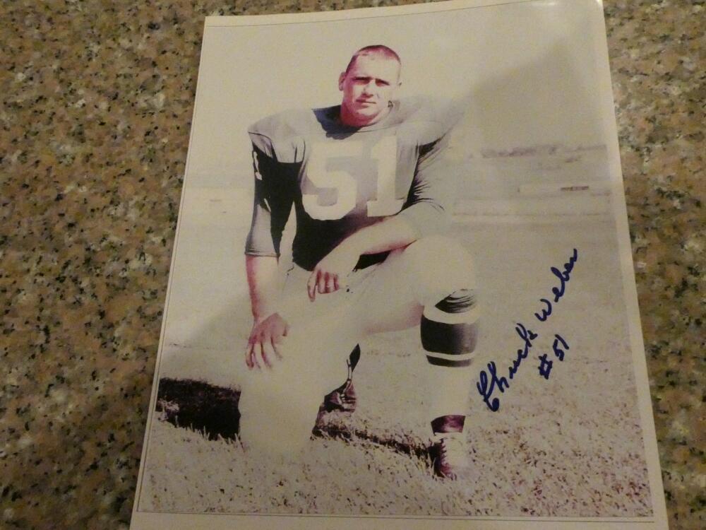 Chuck Weber Philadelphia Eagles Signed 8x10 Photo 2