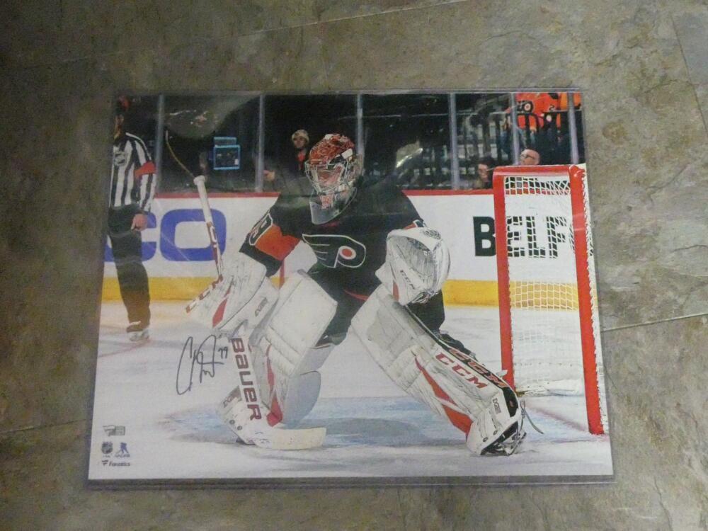 Carter Hart Philadelphia Flyers Signed 16x20 Photo COA Fanatics 2
