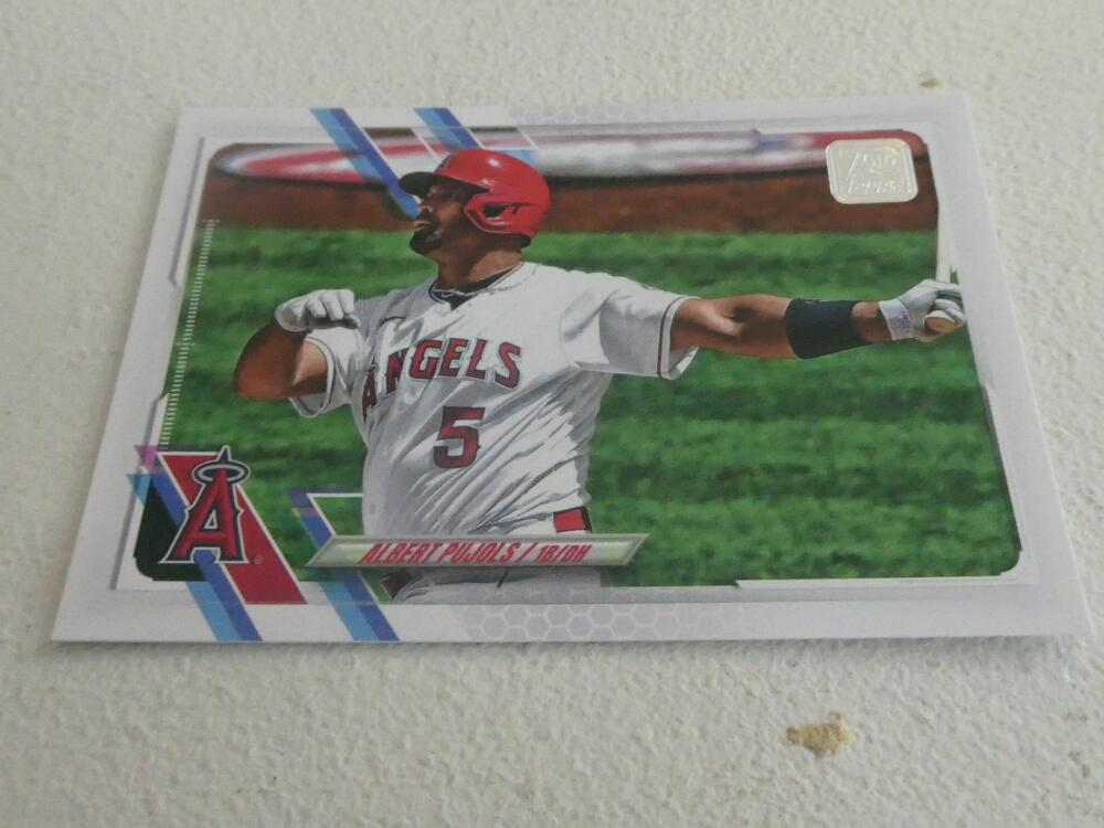Albert Pujols Los Angeles Angels 2021 Topps  Card MInt