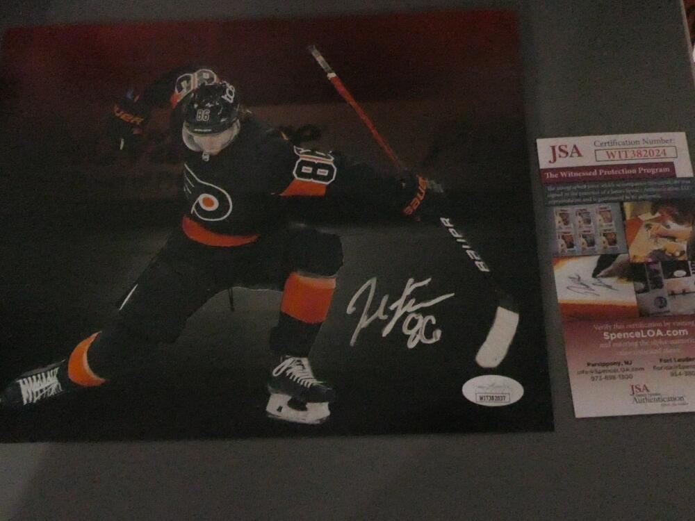 Joel Farabee  Philadelphia Flyers  Signed 8x10 Photo JSA Spotlight