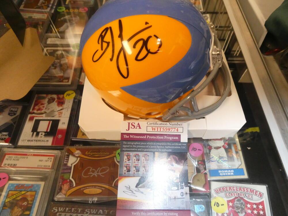 Brian Dawkins Philadelphia Eagles Signed Throwback 1937 Mini Helmet JSA