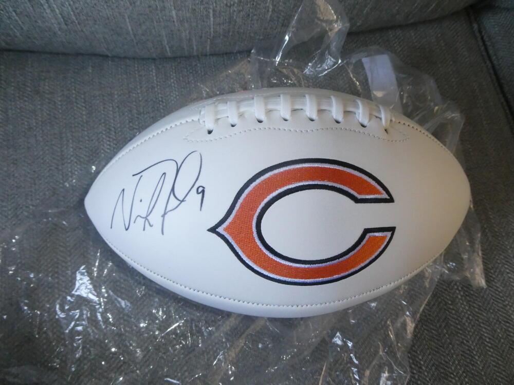 Nick Foles Chicago Bears Signed Logo Football Fanatics COA