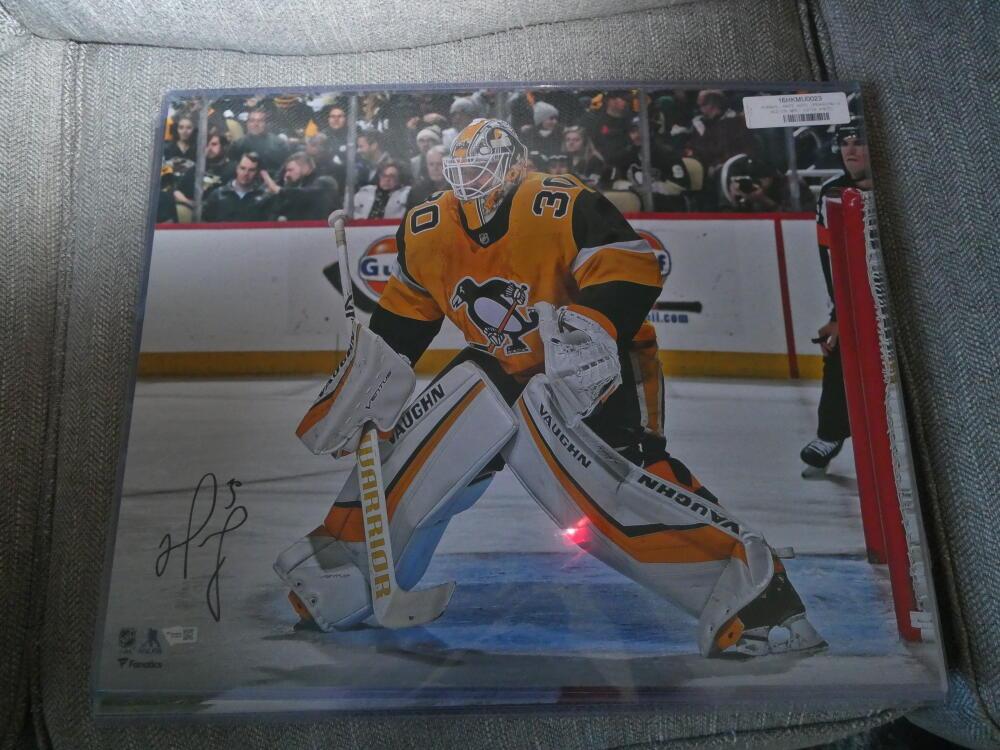 Matt Murray Pittsburgh Penguins Signed 16x20 Photo Fanatics COA