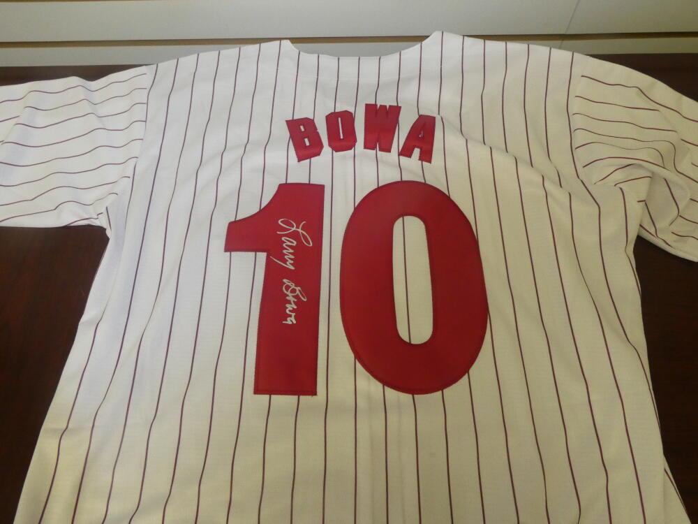 Larry Bowa Philadelphia Phillies Signed Throwback Pinstripe Jersey COA Inscription