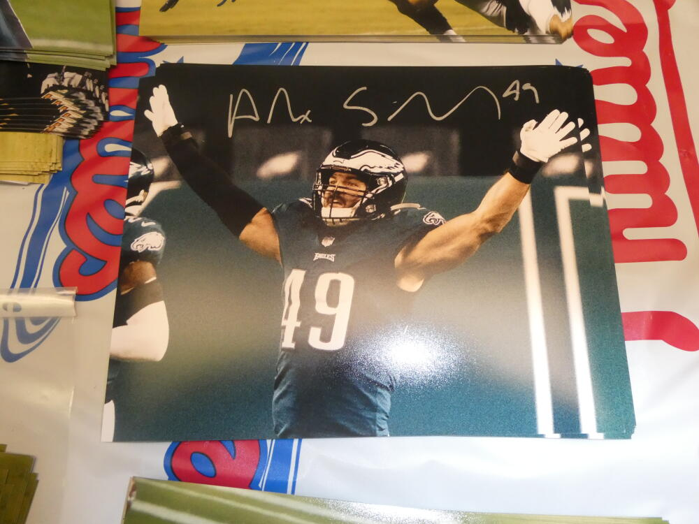 Alex Singleton Philadelphia Eagles Signed 8x10 Photo COA 6