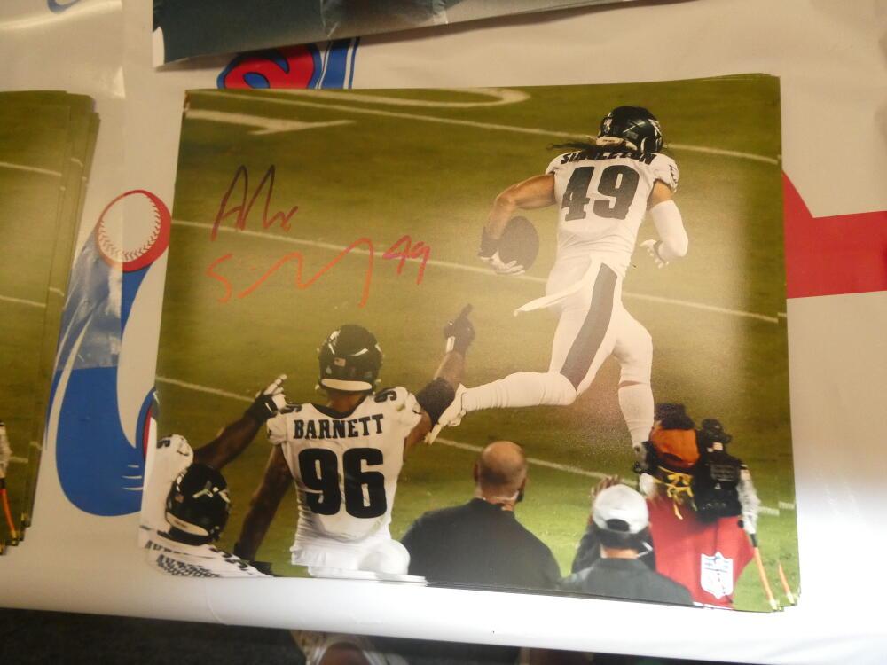Alex Singleton Philadelphia Eagles Signed 8x10 Photo COA 7