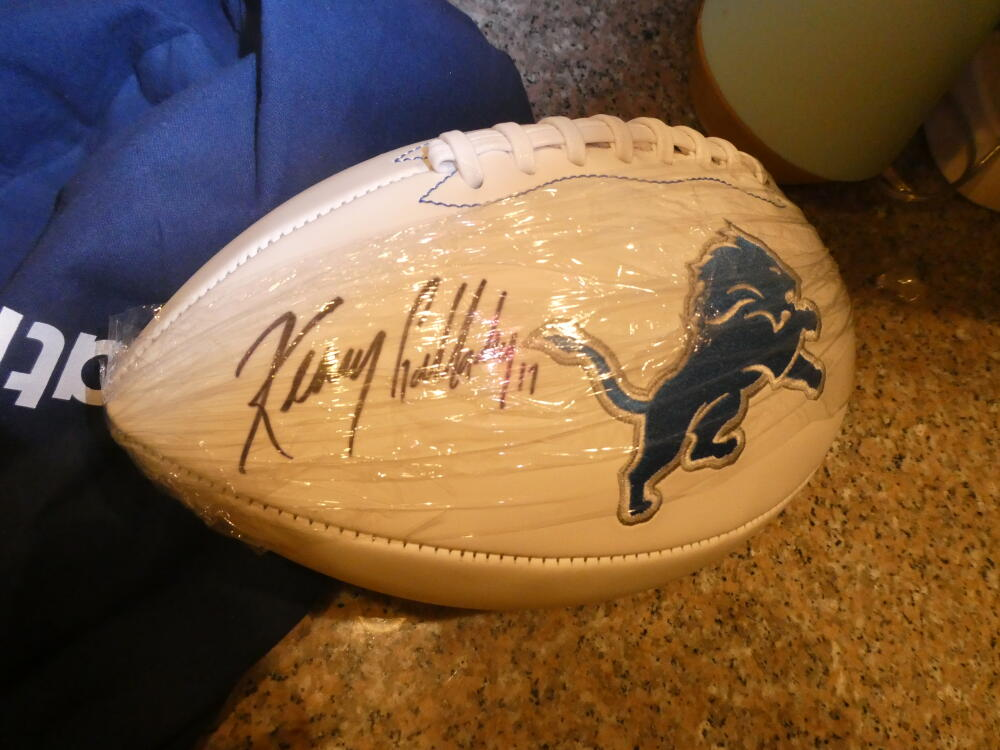 Kenny Golladay Detroit Lions Signed Logo Football Fanatics