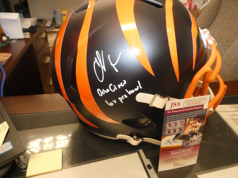 Chad Johnson/Ocho Cinco Cincinnati Bengals Signed Eclipse Helmet JSA 2 Ins