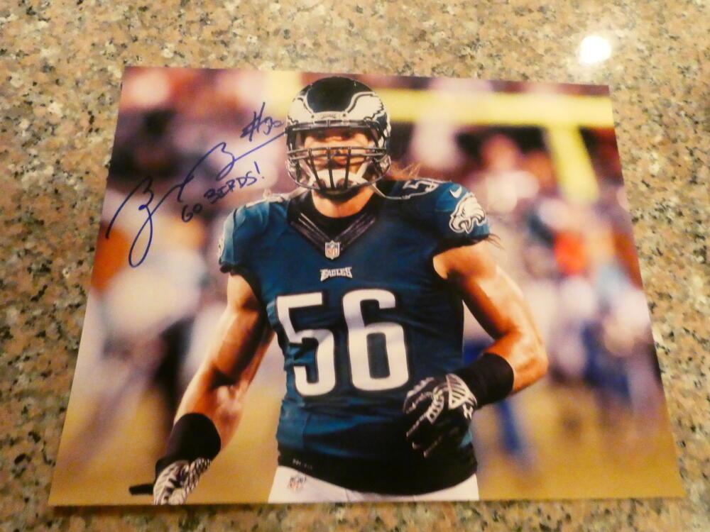 Bryan Braman Philadelphia Eagles Signed 8x10 Photo COA  2