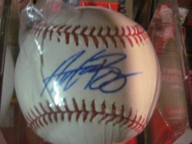 Andrew Bailey A's/Red Sox Signed MLB Baseball COA