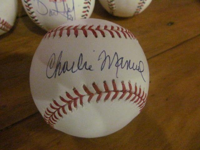 Charlie Manuel Philadelphia Phillies Signed MLB Baseball COA