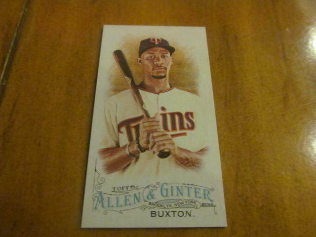 Byron Buxton Minnesota Twins 2016 Allen & Ginter Mini #104 Mint