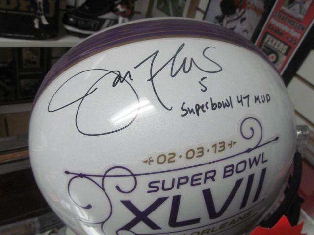 Joe Flacco Baltimore Ravens Signed Replica Full Size Helmet Inscription JSA