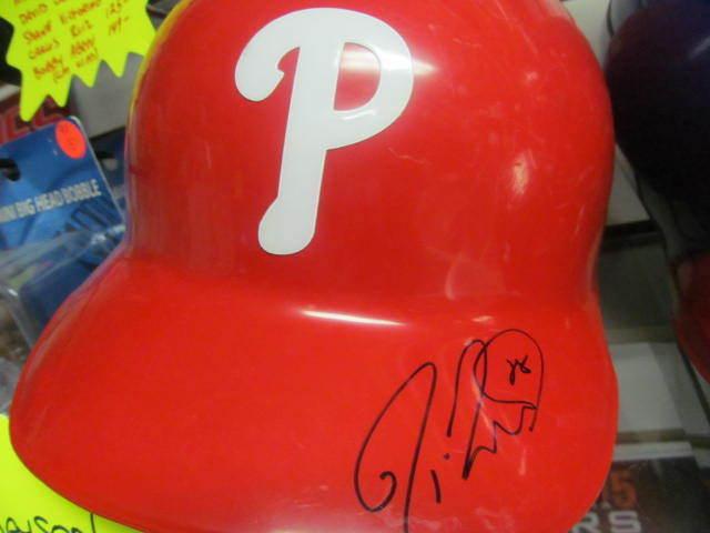 Jayson Werth Philadelphia Phillies Signed Game Used Batting Helmet COA