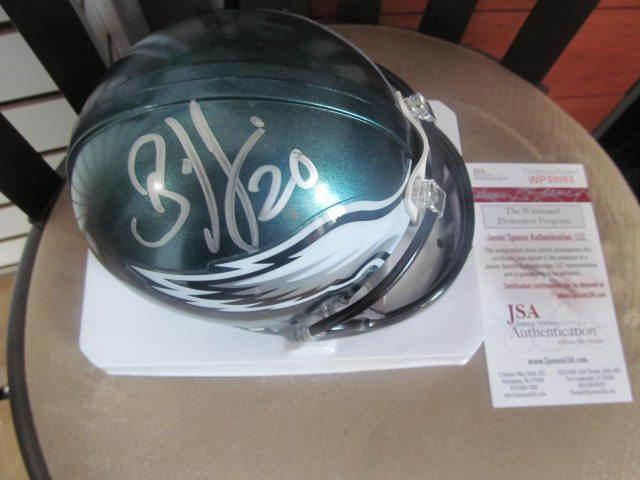 Brian Dawkins Philadelphia Eagles Signed Mini Helmet JSA