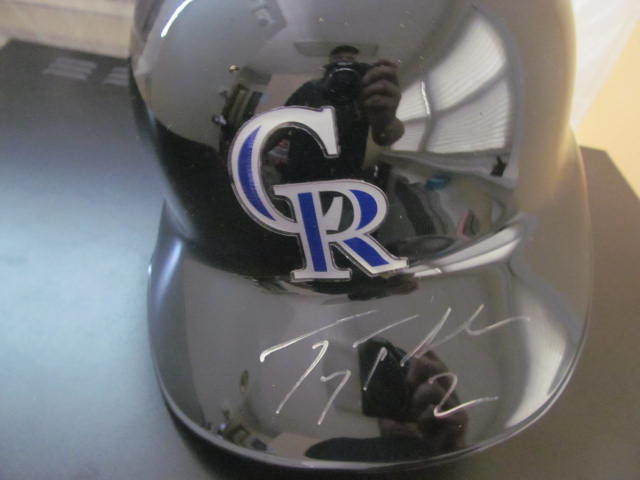 Troy Tulowitzki Colorado Rockies Signed Authentic FS Helmet COA