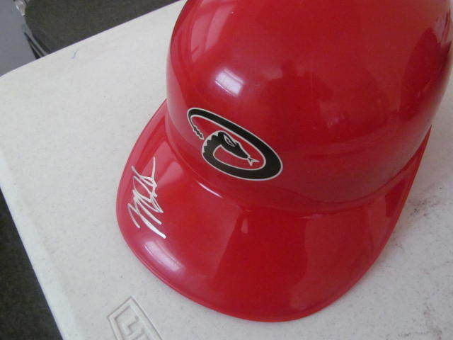 Mark Trumbo Arizona Diamondbacks Signed FS Helmet COA