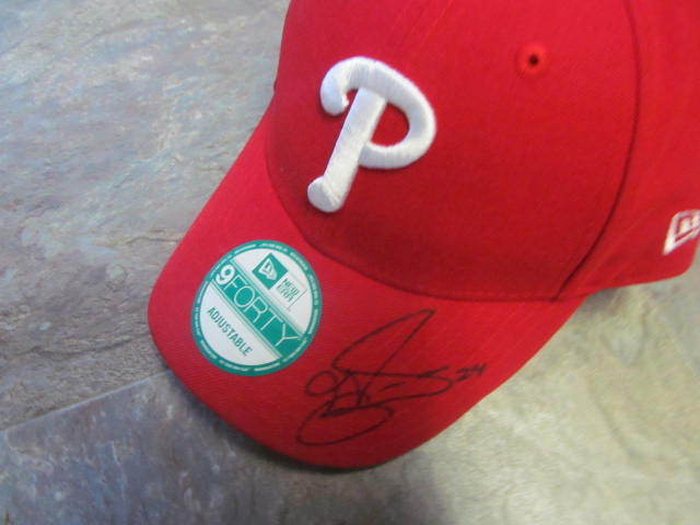 Grady Sizemore Philadelphia Phillies Signed Hat MLB Authenticated