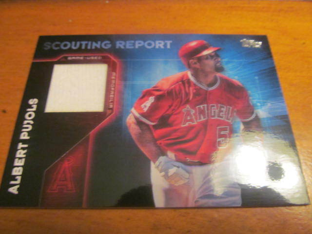 Albert Pujols Los Angeles Angels 2016 Topps Scouting Report Jersey Card MInt